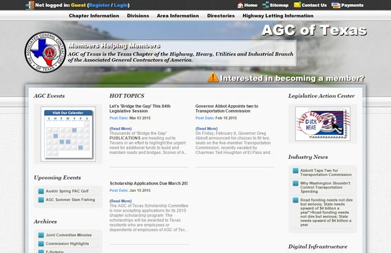 Website - Associated General Contractors of Texas